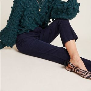 Anthro The Essential Corduroy Crop Flare Pants
